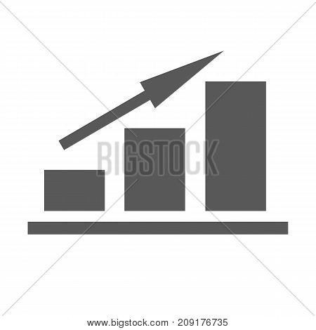 New chart icon. Simple illustration of chart or graph vector icon isolated on white background
