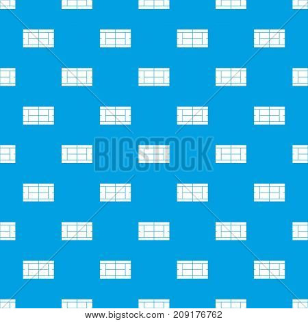 Tennis court pattern repeat seamless in blue color for any design. Vector geometric illustration