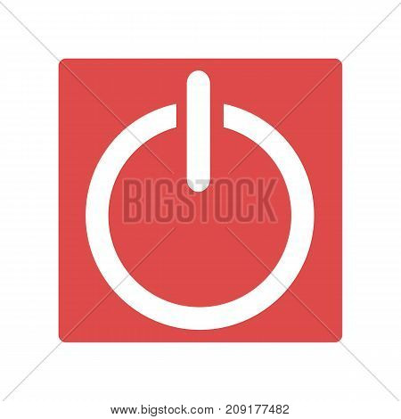 Red power icon. Simple illustration of red power vector icon isolated on white background