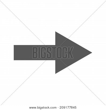 Arrow Icon in trendy simple style isolated on white background vector illustration