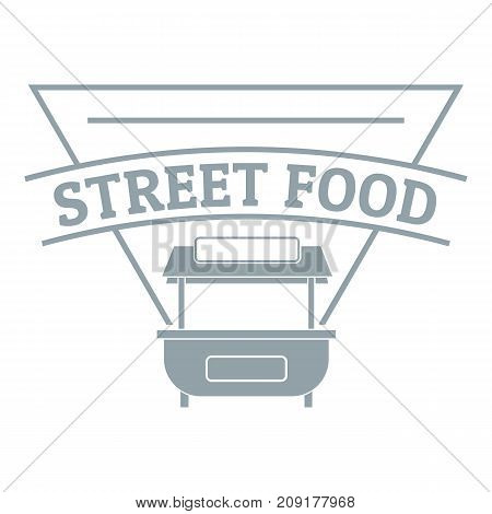 Stall food logo. Simple illustration of stall food vector logo for web