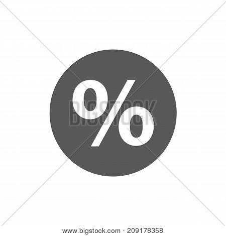 Percent sign vector icon simple isolated on white background