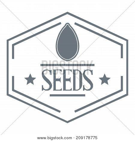 Seed logo. Vintage illustration of seed vector logo for web