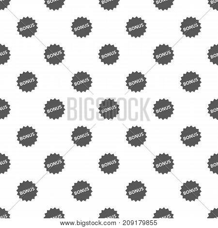 Bonus sign pattern seamless. Repeat illustration of bonus sign pattern vector geometric for any web design