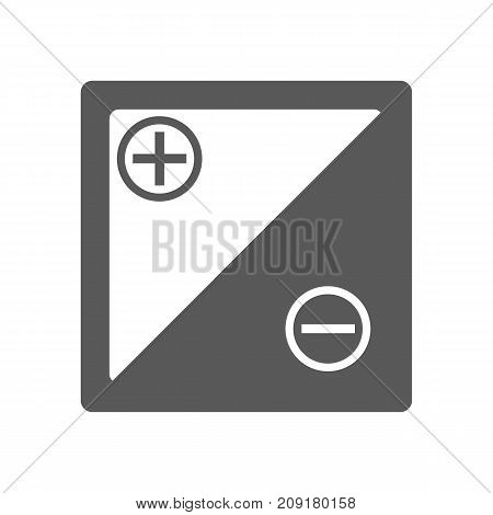 Accumulator icon vector simple isolated on white background