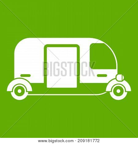 Thailand three wheel native taxi icon white isolated on green background. Vector illustration
