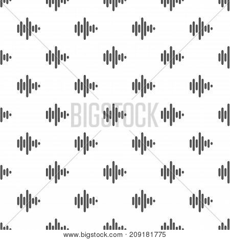 Sound wave pattern seamless. Repeat illustration of sound wave pattern vector geometric for any web design