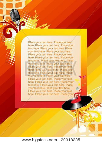 musical composition for sample text poster