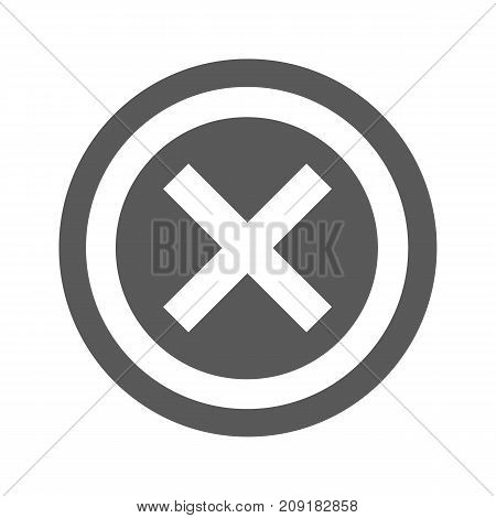 Not icon. Vector simple illustration of not icon isolated on white background