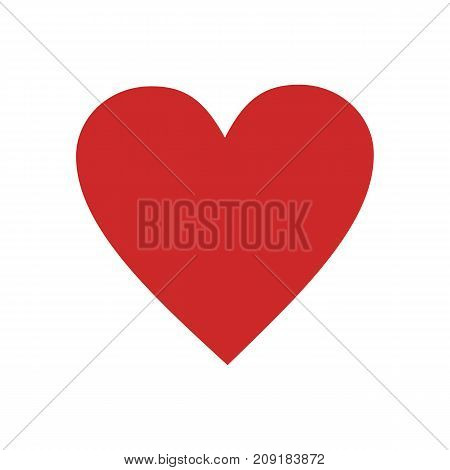 Red heart icon. Vector simple illustration of red heart icon isolated on white background