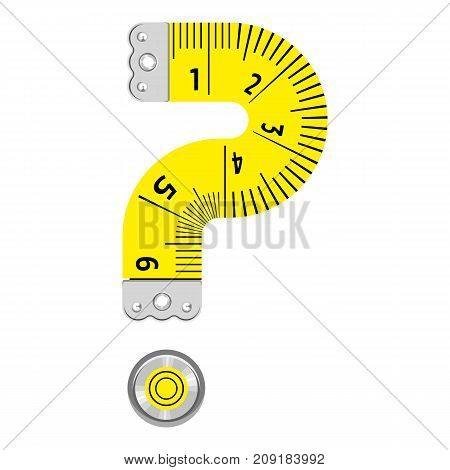 Sign question mark ruler icon. Cartoon illustration of sign question mark ruler vector icon for web
