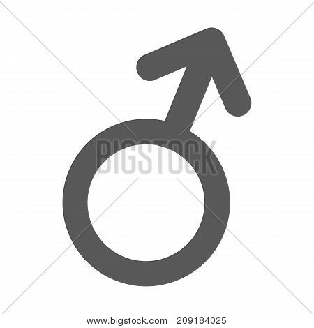 Male gender symbol icon. Vector simple illustration of male gender symbol icon isolated on white background