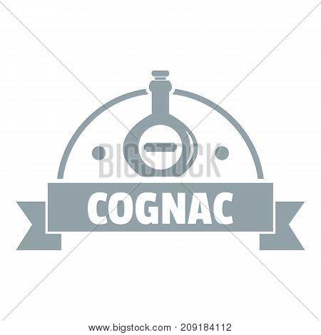 Glass cognac logo. Simple illustration of glass cognac vector logo for web