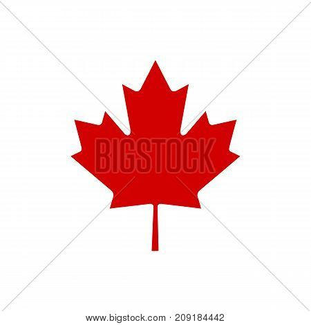 Canada maple leaf icon. Vector simple illustration of Canada maple leaf icon isolated on white background