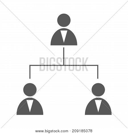 Business structure icon. Simple illustration of business structure vector icon black isolated on white background