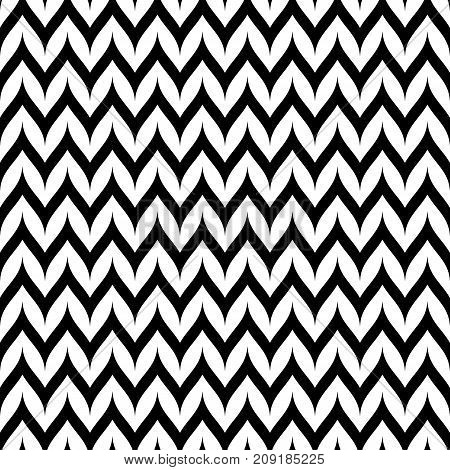 Vector Zigzag Chevron seamless pattern. Horizontal curved wavy Zig Zag lines. Simple stylish abstract geometric background. Monochrome striped texture. Chevron pattern. Herringbone pattern. Lines background. Design background. Wavy pattern.