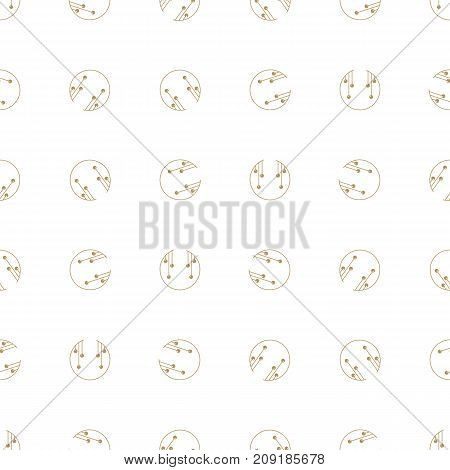 Christmas seamless pattern with balls. Ideals for xmas background. Gold color.