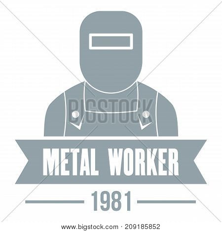 Metal worker logo. Vintage illustration of metal worker vector logo for web