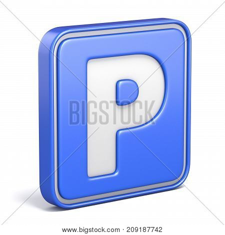 Parking area street sign 3D render illustration isolated on white background