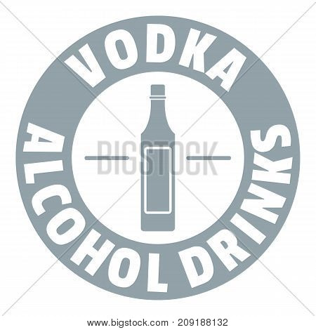 Quality vodka logo. Simple illustration of quality vodka vector logo for web