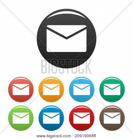 Mail icons set. Vector simple illustration of mail icons isolated on white background