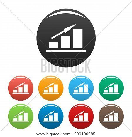 New chart icons set. Simple illustration of chart or graph vector icons isolated on white background
