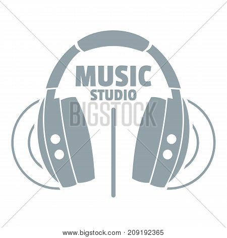 Musical studio logo. Simple illustration of musical studio vector logo for web