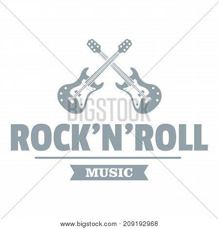 Rock n roll logo. Simple illustration of rock n roll vector logo for web