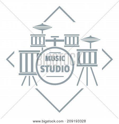Instrument studio logo. Simple illustration of instrument studio vector logo for web