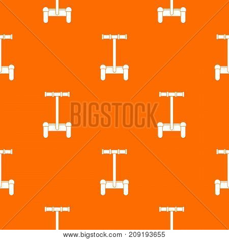 Alternative transport vehicle pattern repeat seamless in orange color for any design. Vector geometric illustration
