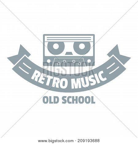 Radio retro music logo. Simple illustration of radio retro music vector logo for web