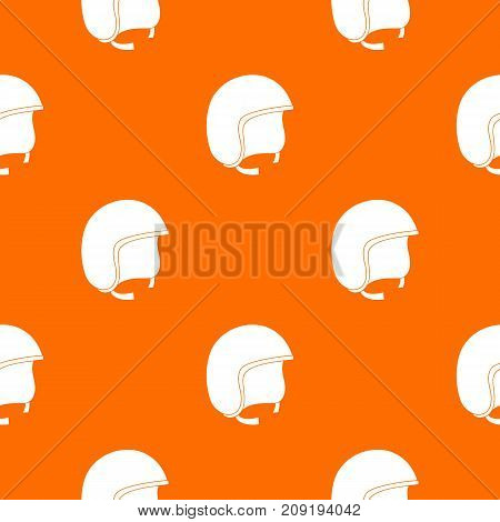 Safety helmet pattern repeat seamless in orange color for any design. Vector geometric illustration