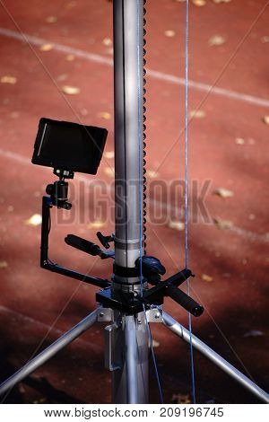 A high camera position for top view from 5m height.