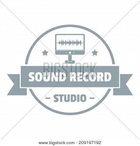 Modern sound studio logo. Simple illustration of modern sound studio vector logo for web