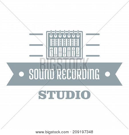 Sound record logo. Simple illustration of sound record vector logo for web