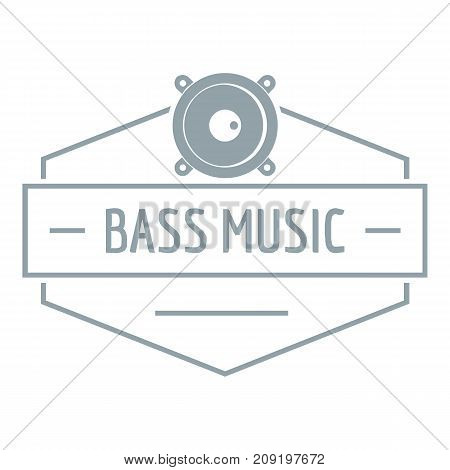 Bass music logo. Simple illustration of bass music vector logo for web