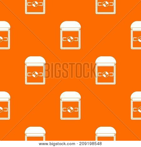 Ring in a velvet box pattern repeat seamless in orange color for any design. Vector geometric illustration