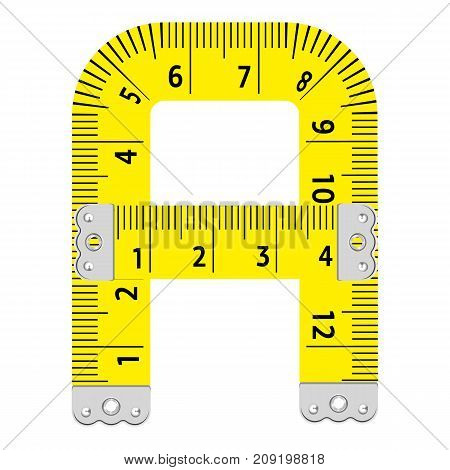 Letter a ruler icon. Cartoon illustration of letter a ruler vector icon for web