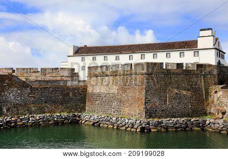 Old fortress of Ponta Delgada, Sao Miguel Island, Azores, Portugal