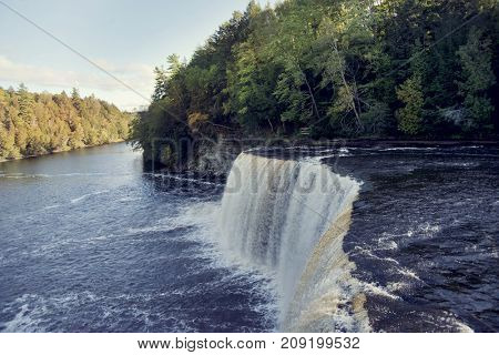 Upper Tahquamenon Falls in the upper peninsula of Michigan.