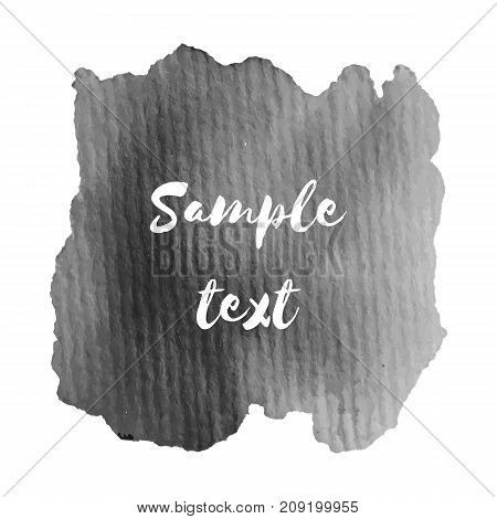 Abstract watercolor grayscale background. Vector illustration. Grunge texture for cards and flyers design.