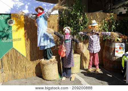 Scarecrows At The Chestnuts Festival