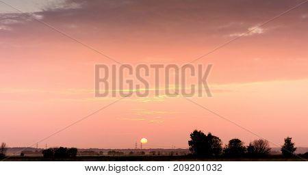 Setting Sun Evening Cloudscape