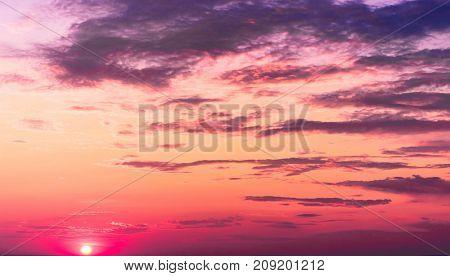 Evening Cloudscape Bright Illumination