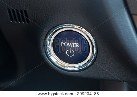 Power on button of a hybrid vehicle