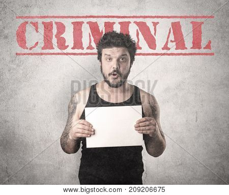 Caught gangster with criminal background. poster
