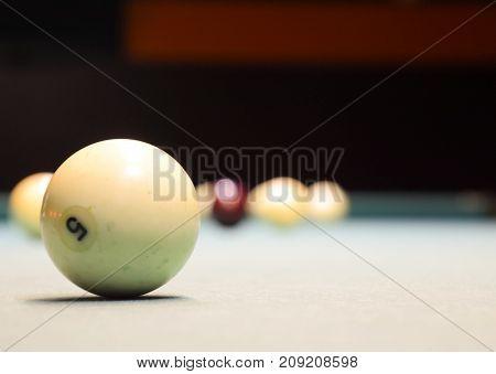 Billiards, Billiard Table. Balls On The Billiard Table.