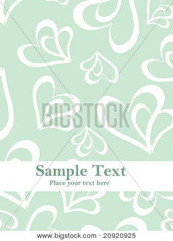 abstract design with love text