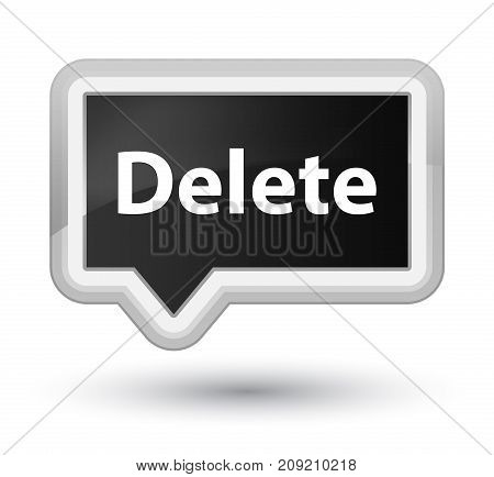 Delete Prime Black Banner Button