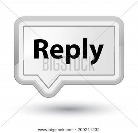 Reply Prime White Banner Button